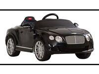 Childrens Bentley gt ride on car 12v parental control