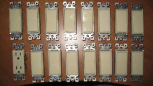 LIGHT SWITCHES AND SWITCH PLATES IVORY LEVITON