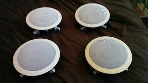 Haut-parleurs encastrés 6,5 pouces, 8 ohms,