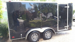 """ For Rent"" 7 X 12 Enclosed Cargo Trailer"