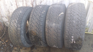 Selling four Dunlop Radial Rover 31x10.50R15