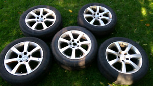 """Infiniti G35x 17"""" wheels with summer tires"""