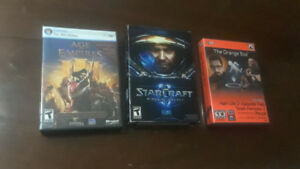 PC games - Starcraft 2, Age of Empires 3 & Half Life 2 & Portal