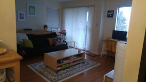 Sept 1  furnished room walking from Skytrain & Douglas Col
