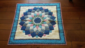 Vintage Quilt for Tabletop or Back of Couch