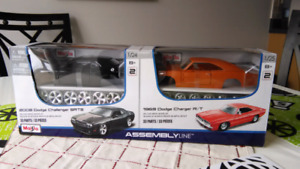 Die cast Maisto Assembly Line Dodge Charger 2008 SRT8 1969 R/T