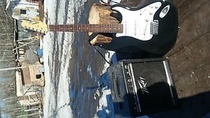 aria stg lead guitar  series and amp