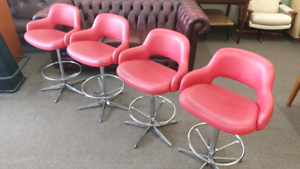 Retro Swivel Bar Stools Chairs KENDALL
