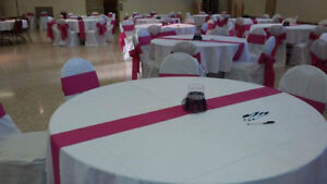 White table cloth for rental 7.50 each