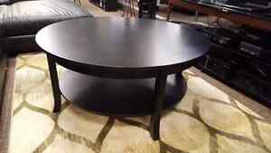 Black Round Coffee and End Tables