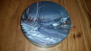 Vintage 1989 Terry Redlin Evening with Friends  Cookie Tin