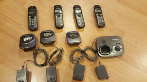 4-handset Panasonic KX-TG6321 with Base Answering machine set.L