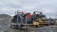 1987 Parker portable jaw crusher 25 X 40 complete with cat engin