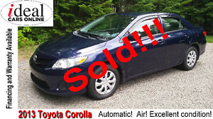 SOLD!!!---Lowest Priced 2013  Corolla in the Maritimes!!