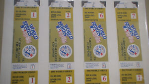 World Series 1985 Blue Jays 4 tickets mint