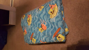 Spongebob Crib mattress sheets and blankie