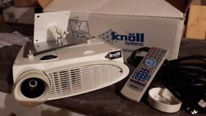 """KNOLL PROJECTOR HD110 with 92"""" GRAY SPECTRA SCREEN 16X9 RATIO"""