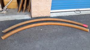 Solid oak bar rails