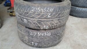 Pair of 2 Yokohama Parada SpecX 275/45R20 tires (60% tread life)