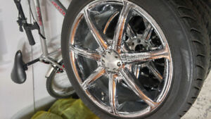 """17"""" Chrome Rims With Tires"""