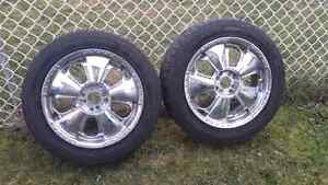 4 17 inch rims and tires for 300