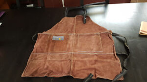 Leather BBQ Grill Apron - NEW, Never Used