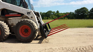 Jenkins HEAVY DUTY Bale Spear Skidsteer Attachments