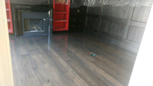 SAND, stain, finish, REFINISH hardwood floor and stairs