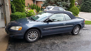 2001 Chrysler Sebring Limited  convertible CERTIFIED