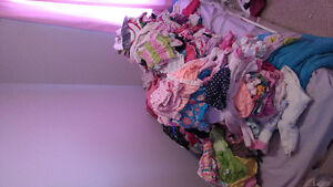 Huge lot of baby girl clothing and accessories