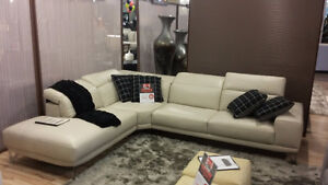 "Natuzzi Sectional ""100% Leather""  $2499.00"