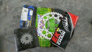 KX85 KX100 Chain and Sprocket Set and Brake Pads