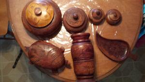 ensemble en bois fait à la main