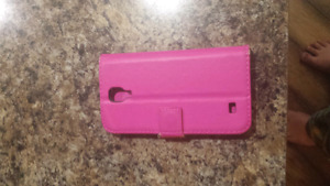 Used Pink Vinyl Samsung Galaxy S4 Phone case