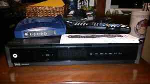 Motorola home PVR system with Motorola modem, Shaw remote