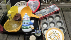 Kid'S Rolling suitcase + Misc Household Items