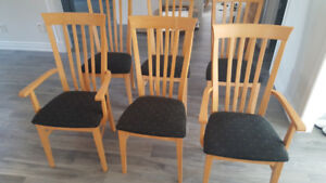 6 dining room chairs with free table $350