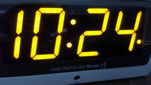 Record reminders for seniors on this voice-activated smart-clock