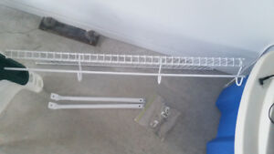 """Closetmaid 34.5"""" Shelf with Hanger incl. Two Brackets/Hardware"""