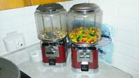 2 beaver coin operated gumball machines