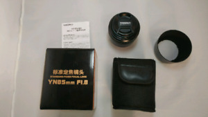 Yongnuo 85mm 1.8f lens for canon ef