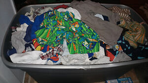 Boys clothing and exersaucer