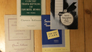 Vintage piano music books. $2.00 each