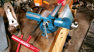 "Bessey Drop Forged 4"" Bench Vise Germany 90K PSI Strength Solid"