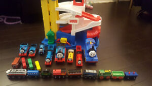 THOMAS THE TRAIN AND FISHER PRICE GARAGE SET