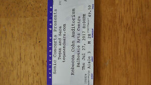 2 Tegan and Sara tickets for sale