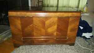 Antique Walnut Chest, Cedar lined with drawer circa 1940