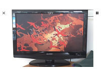 "Sharp Aquos 22"" tv with built in dvd player Model LC-22DV200E"