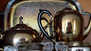 Wm.A. Rogers vintage Silver Plate Tea and Coffee set 1078