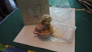 Cherished Teddies- Marilyn- A Cup full of Cheer- like new- gift